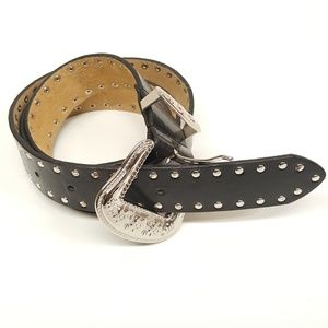 Accessories - Western Cowgirl Leather studded Belt